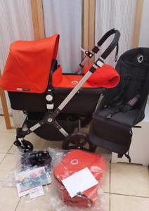 Poussette avec tout le kit nécessaire  pour béb&ea