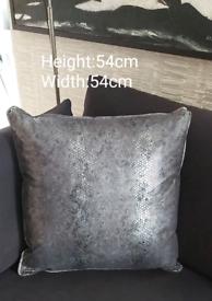 Bespoke Snake Print Cushions x 2 BRAND NEW