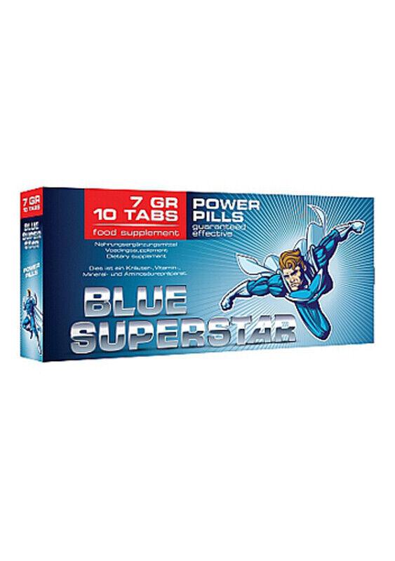 Blue Superstar Erektion Pillen Potenzhilfe Aphrodisiaka Sexpillen Kraft für Mann