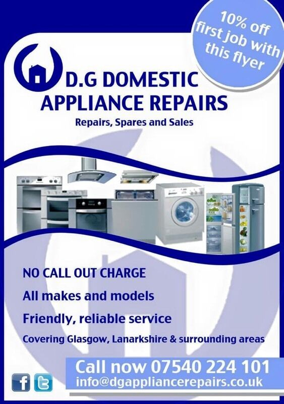 Domestic Appliance Repair - NO CALL OUT CHARGE (washing
