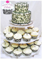 Beautiful Wedding Cupcakes For Your Big Day! FREE CUTTING CAKE