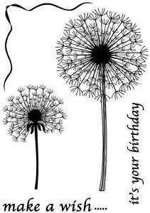Sweet Dixie Clear Stamps Make A Wish dandelion birthday luck cardmaking journal