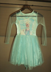 Disney's Queen Elsa Dress (Girls Size 4-6) and Elsa tiara