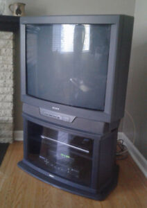 Old style SONY TV with stand