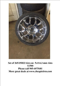 St. Catharines-Set of 265/35R22 tires on 5x114.3 mm rims