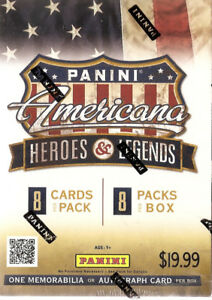 2012 Panini Americana Heroes & Legends Blaster Box (1 Mem Card)