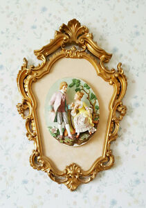 1960's Empire Victorian 3-D Cameo Picture - Man & Woman - Italy