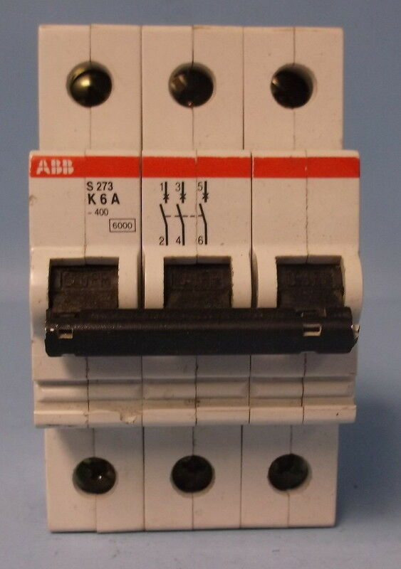 ABB 20 AMP 1-POLE 3 CIRCUIT BREAKERS VDE 0660