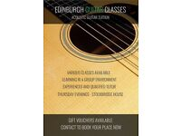 Acoustic Guitar Classes in central Edinburgh.