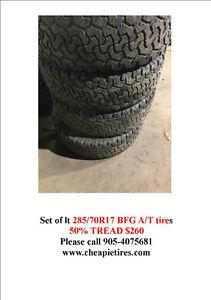 lt 285/70R17 BFG A/T tires