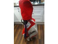 Full set of Wilson Golf Clubs and Wilson Staff Cart bag