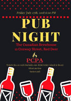 Pub Night Fundraiser at the Canadian Brewhouse