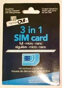 SpeakOut 3-in-1 SIM card | pay-as-you-go | prepaid | BRAND NEW