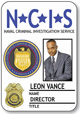 NAME BADGE HALLOWEEN COSTUME LEON VANCE DIRECTOR NCIS SAFETY PIN BACK](Halloween Leone)