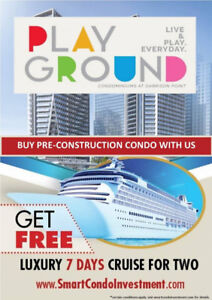 BUY PlayGround Condos With Us GET a FREE LUXURY 7 DAYS CRUISE