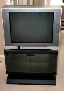 Toshiba 24 in CRT; TV and TV stand