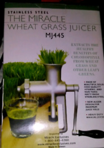 The miracle wheatgrass juicer brand new stainless steel