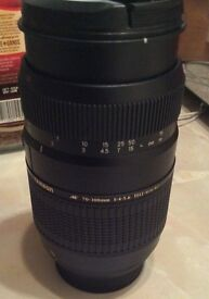 Tamron 70-300mm tele macro Nikon fit lens used once