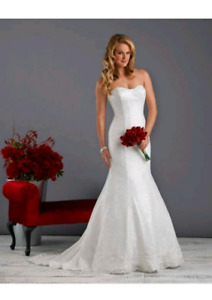 Wedding dress, size 2
