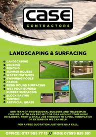 Landscaping block paving pattern imprinted concrete. Atifitial grass