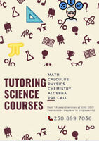 Tutoring Science Courses