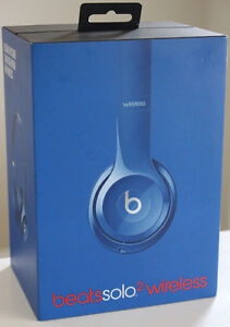 NEW Beats by Dr. Dre Solo 2 On-Ear Bluetooth Headphones - Blue
