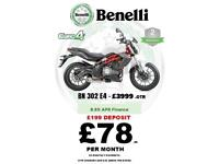 BRAND NEW BENELLI 302 E4 - RIDE AWAY FROM 78 PM
