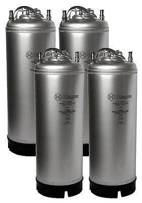 Set Of 4 New Kegco 5 Gallon Ball Lock Cornelius Homebrew Kegs Wstrap Handles