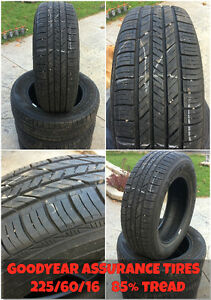 Used Goodyear Assurance All Season Tires - 225/60/16