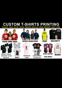 Shirts Printing , Business cards, flyers, signs, decals, website