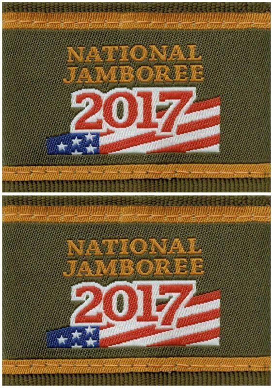 2017 Boy Scout National Jamboree Uniform Shoulder Loops Epaulettes Pair Lot Set