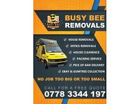 Busy bee removal man & van haulage house clearance removals pick up and delivery 07783344197