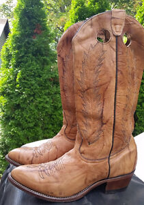 Men's BOULET Leather Cowboy Boots size 9 1/2 PRICE DROP