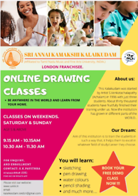 Online drawing classes for kids and adults