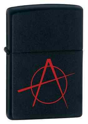 "Zippo ""Anarchy"" Black Matte Lighter, Full Size, Low Ship, 20842 on Rummage"