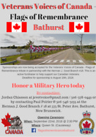 Veterans Voices of Canada - Flags of Remembrance Bathurst Event