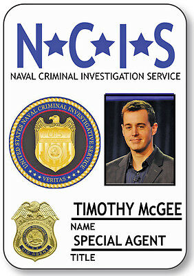 NAME BADGE HALLOWEEN COSTUME TIMOTHY MCGEE SPECIAL AGENT NCIS SAFETY PIN BACK](Ncis Halloween Special)