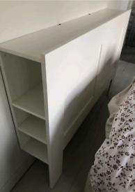 REDUCED IKEA kingsize Headboard/Storage Shelves - 5ft king size