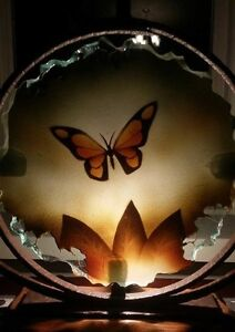 Mexican Butterfly Art Candle Holder