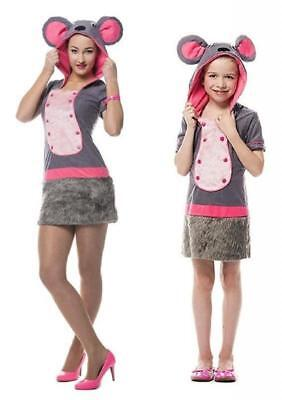 Mauskostüm Plüsch Kostüm Kleid Maus Minni Micky Ratte Mäuse Kinder Mädchen Damen ()
