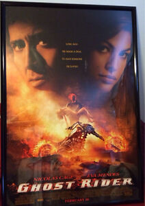 Nicolas Cage signed poster