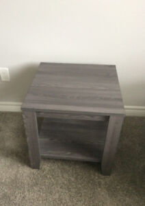 end tables , wood stain GREY
