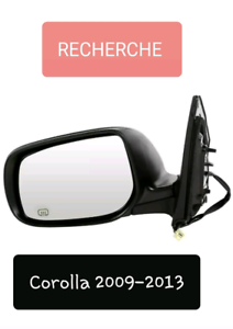 RECHERCHE Miroir conducteur Corolla 2009-2013