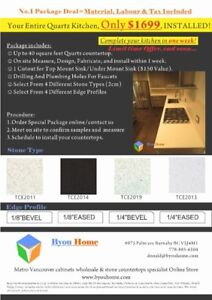 (www.byouhome.com) Your Entire Quartz Kitchen, Only $1699, INST