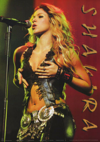 LOT OF 2 POSTERS : MUSIC : SHAKIRA   IN CONCERT   FREE SHIP #AA859     RC32 H