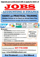 Finance Practical hands on training for skills required for jobs