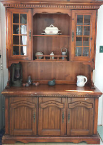 Antique Hutch Display Cabinet