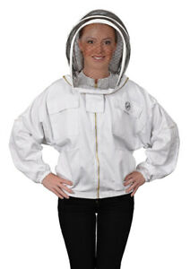 Humble Bee Polycotton Beekeeping Jacket with Fencing Veil