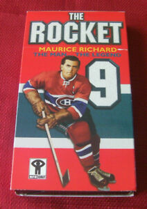 VERY RARE---The Rocket (Maurice Richard) on VHS