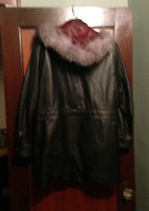 Woman's Leather Coat - Soft Leather - Removable Liner and Hood London Ontario image 2
